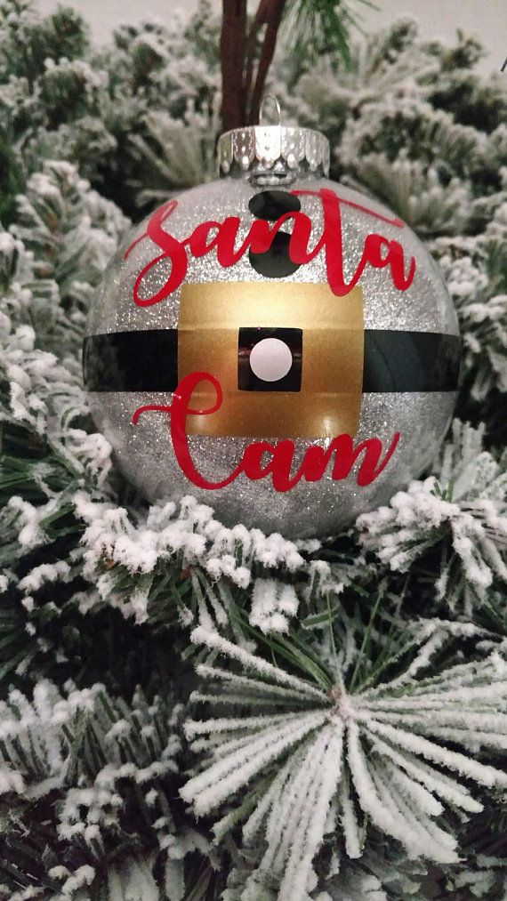 Christmas Ornament Glitter Filled Santa Cam 4 Tree With Gift Box Office Party White Elephant Gifts Under 20 15