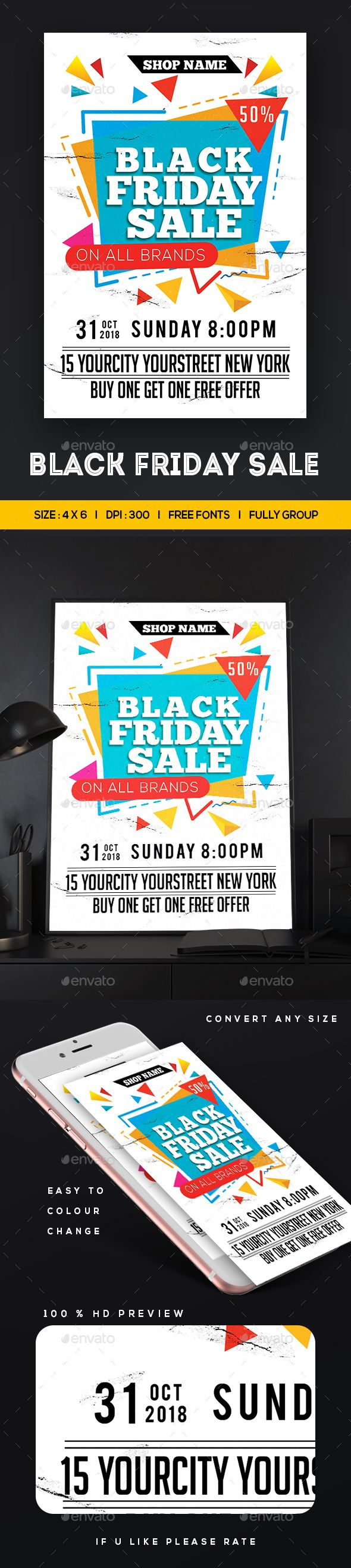 Black Friday Sale #Flyer - Commerce Flyers