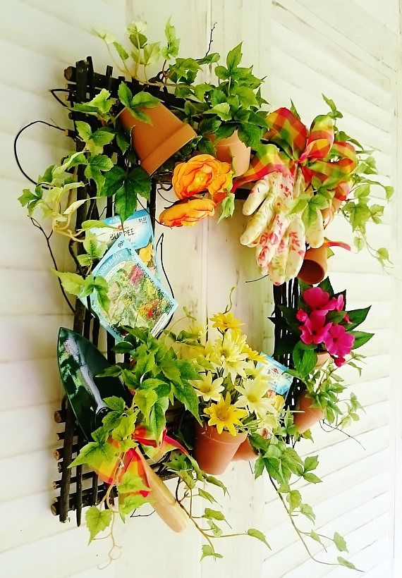 Summer Wreath For Front Door, Gardening Wreaths, Front Door Wreaths, Summer  Wreaths,