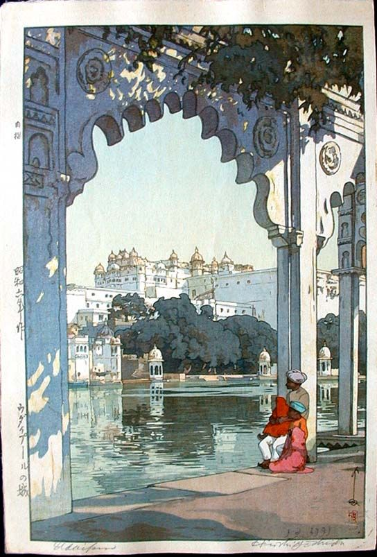 Udaipur-the palace of Udaipur, India, 1931. Castle Fine Arts