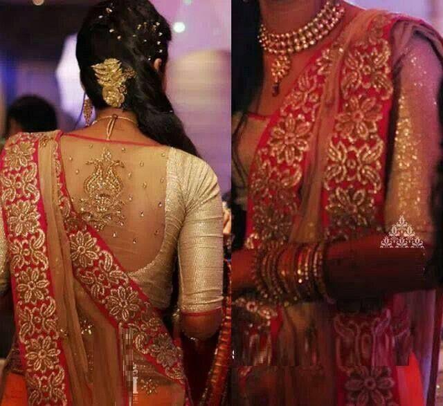40+ Photos of Party Saree Blouse Designs