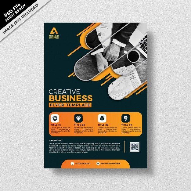 Dark Theme Style Creative Business Flyer Template Design Psd Graphic Design Flyer Business Flyer Templates Business Flyer