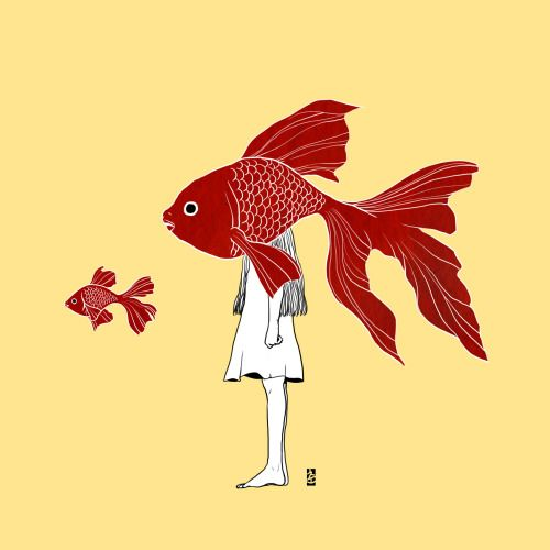 gold fish lonely