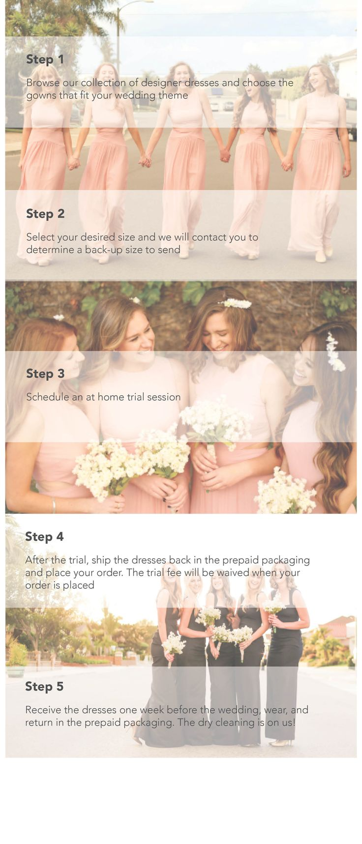 Die 25 besten rent bridesmaid dresses ideen auf pinterest all it takes is a few easy steps to rent a gorgeous designer bridesmaid dress from ombrellifo Image collections