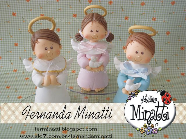TOPO DE BOLO ANJINHOS by FERNANDA MINATTI - ATELIER MINATTI, via Flickr