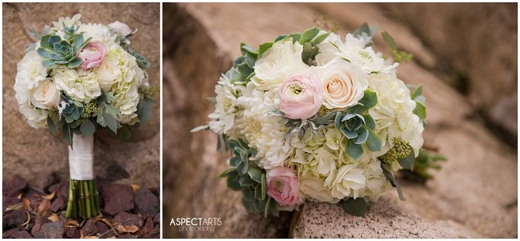 I love succulents in bouquets! Flowers by Bramble Bush Florals in Vernon, BC www.aspectartsphoto.com