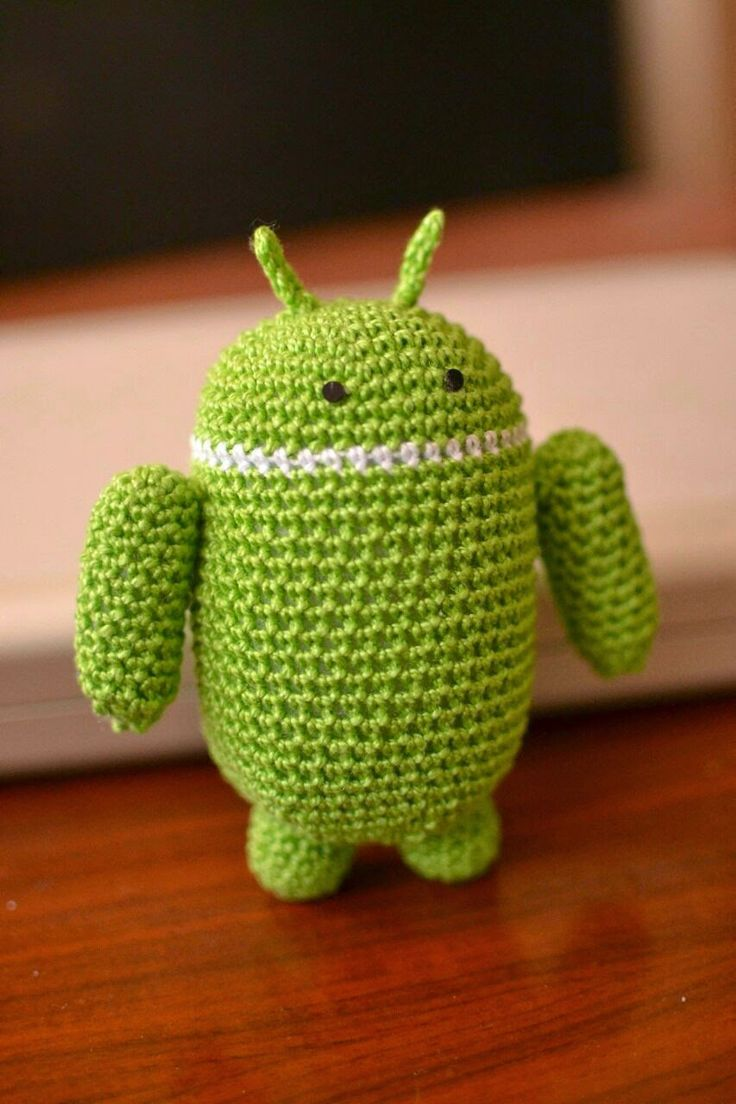 Ganchillitos: Muñeco Android