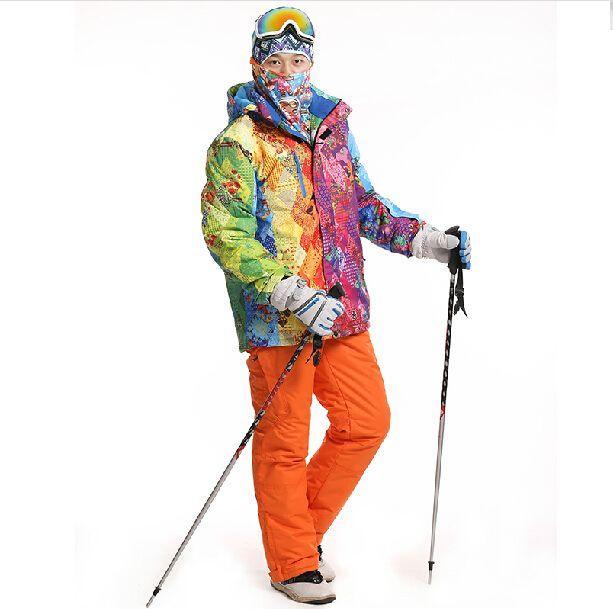 Лыжи Для Мужчин Высокое Качество Брюки + Куртки Сноуборд Зимние Походы Куртка Согреться Снег Брюки Брюки Открытый Спорт катание на лыжах Набор