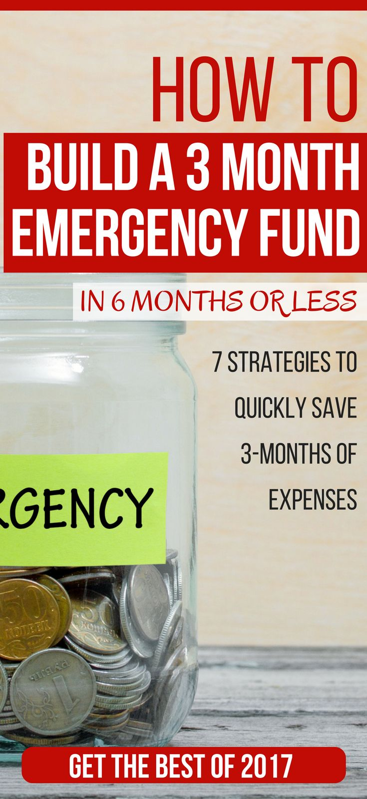 How To Build A 3 Month Emergency Fund In 180 Days Or Less emergency fund savings plan | emergency fund tips | emergency fund savings plan dave ramsey | building your emergency fund #challenge #debt #savings #savingmoney