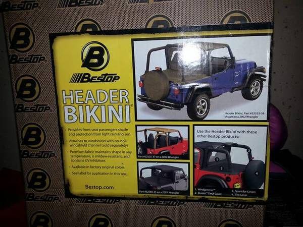 Jeep Wrangler 3 piece soft top kit (Lafayette) $125