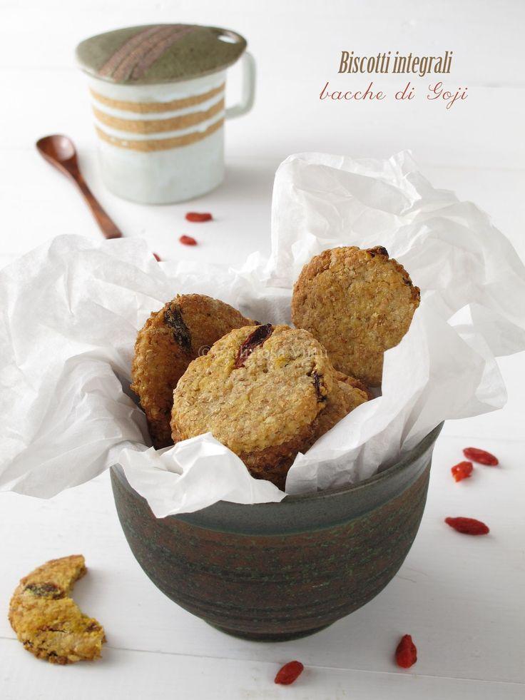 Biscotti integrali con bacche di goji - Deliziosa Virtù