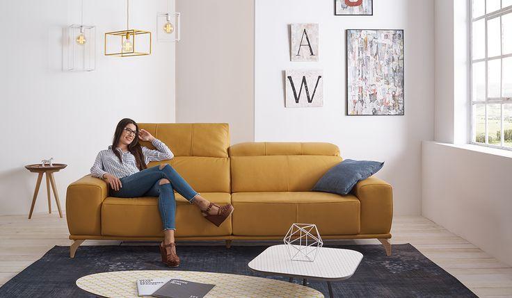 Sofá moderno de 3 y 2 plazas modelo Alce fabricado por Acomodel en Sofassinfin.es