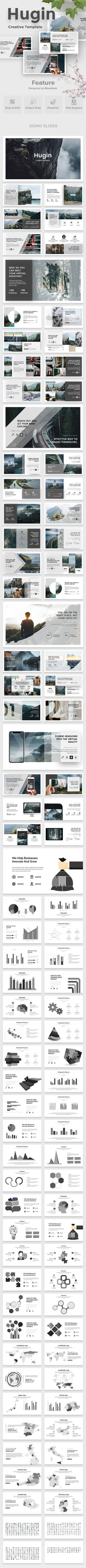 Hugin Creative Powerpoint Template #placeholder #infographic • Download ➝ https://graphicriver.net/item/hugin-creative-powerpoint-template/21285431?ref=pxcr