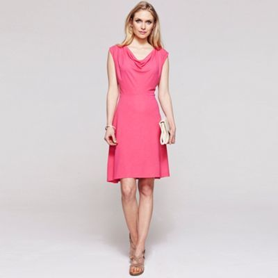 HotSquash Pink knee length cowl dress with CoolFresh- at Debenhams.com