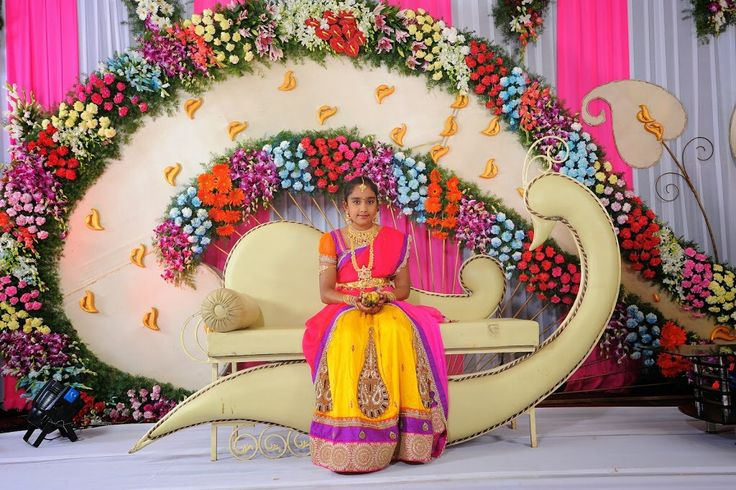 Stage decoration for half saree functions | Projects to ...