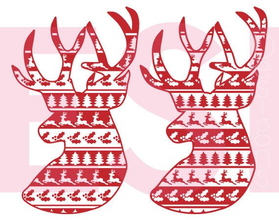 Reindeer Ugly Sweater Svg Cutting File Svg Dxf Eps