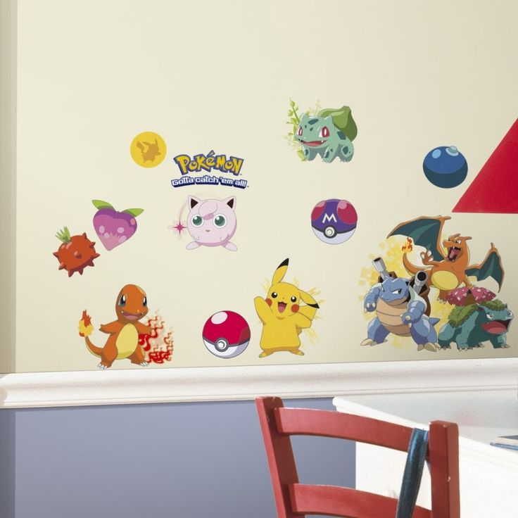 Pokemon Wall Decals Kids Room Art Mural Sticker Home Decor Removable Stickers