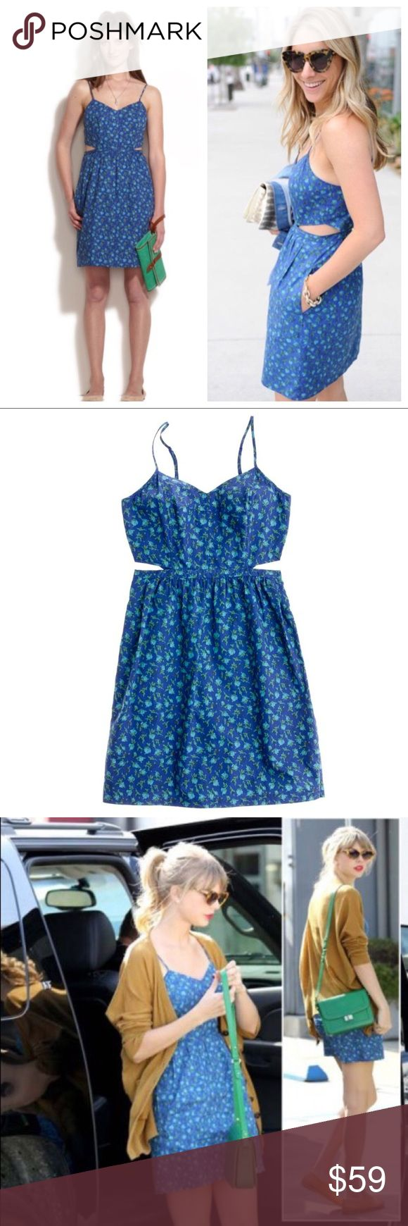 """Madewell Rosette Cut-out Dress Hard to find and in perfect condition: Madewell cotton cut-out floral dress!Great dress for day as well as summer date nights! Measures approximately 25.5"""" long, bust 15"""". Perfect condition - worn twice. Madewell Dresses Mini"""