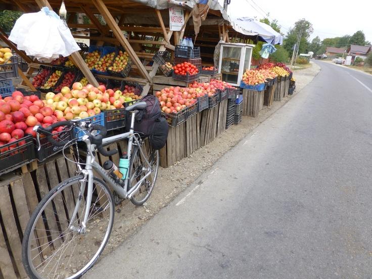 Bucharest, Romania Fruit Market #bicycle #travel [photo by Rick Price]