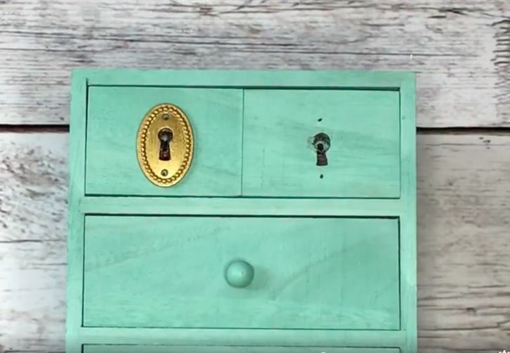 You've found a great set of dresser drawers that are fully functional. but missing a keyhole cover. How on earth are you going to solve that problem? Well, I've…