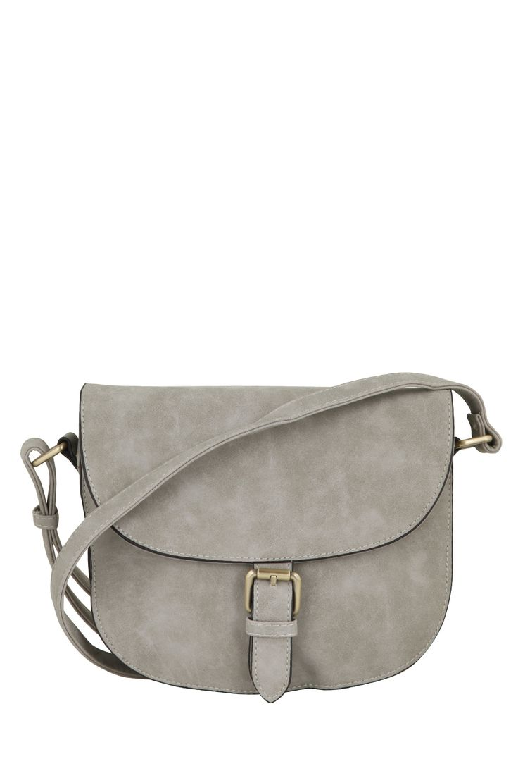 Crossbody bag made of synthetic leather with special metal clasp. The perfect bag for your everyday stroll!