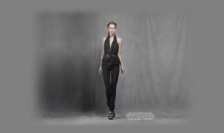 Malloni black collection S13 #gilet #slacks #belt #shoes