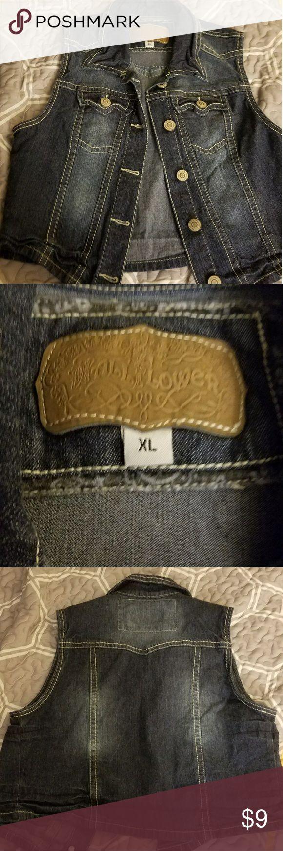 Jean jacket Wallflower jean jacket in dark blue. Very minimal wear so excellent condition. Wallflower Jeans