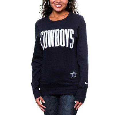 Nike Dallas Cowboys Ladies Tailgater Fleece Sweatshirt - Navy Blue