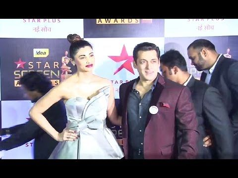 Salman Khan & Daisy Shah At Star Screen Awards 2016.