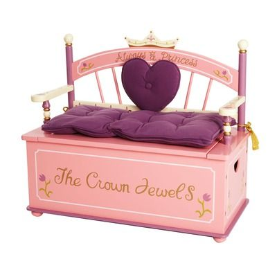 Princess Toy Box Bench $160  Actually I think I need this for myself lol
