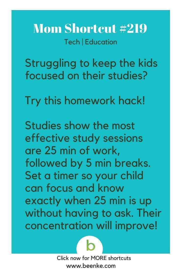 Tech And Study Hacks Everyone Should Know Beenke Kids Focus Help Kids Focus Life Hacks For School