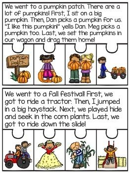 Fall and Thanksgiving Fluency and Sequencing Puzzles that make reading in November fun! Students read the story and put the events of the story in order to complete each puzzle! Great fluency, reading comprehension, and sequencing practice!