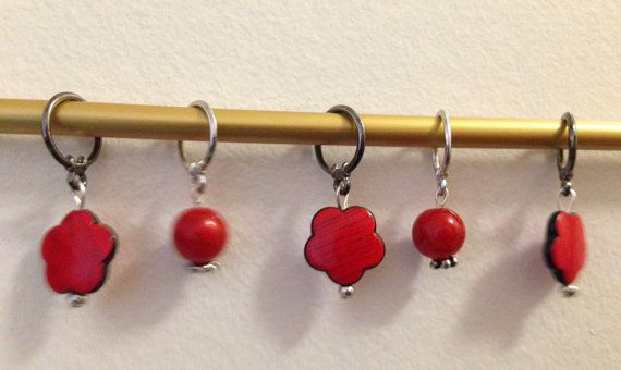 Cute and fun set of wooden stitch markers :)