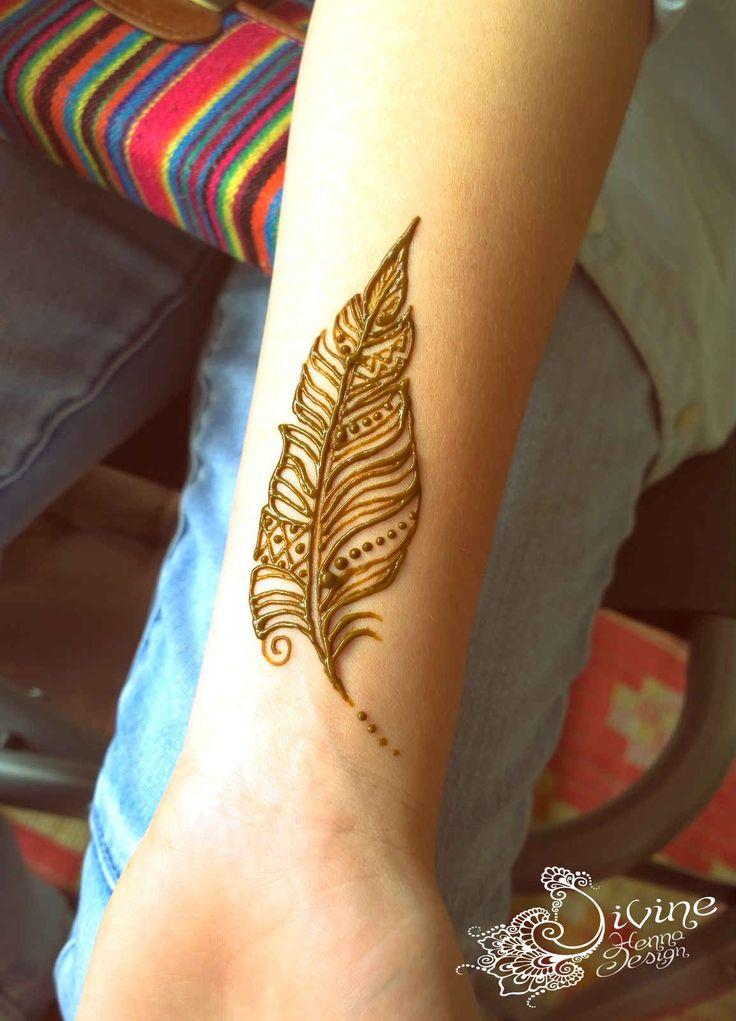 Henna Tattoo Bird henna feather d...