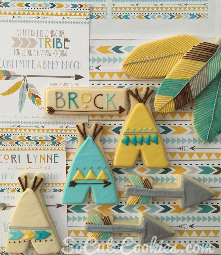 Tribal Chic Cookies. So Cute Cookies | Hand decorated sugar cookies and other treats