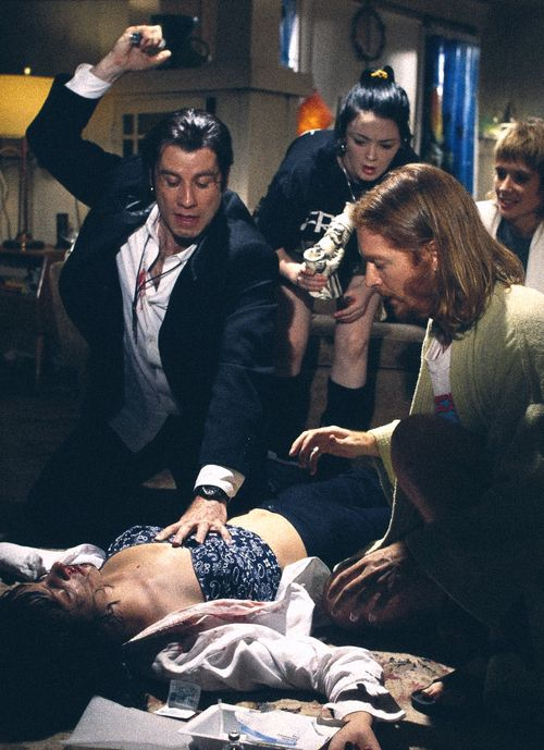 Pulp Fiction a classic with it's perfect sound track that breathed new life into Dusty's Son of a Preacher Man.   Great ensemble cast, humour unforgettable dialogue.