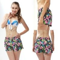 Fashion Women Boardshorts Quick-drying Beach Shorts Summer Shorts Women Floral Printed Shorts