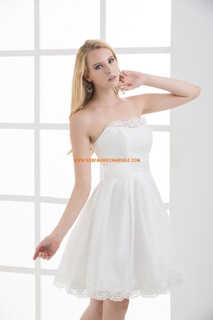 de dentelle Décoration courte taffeta 2013  robe de mariée Toulouse ...