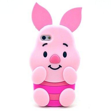 Modelo rosado del cerdo Caso suave de silicona para el iPhone 5 / 5S – EUR € 9.19