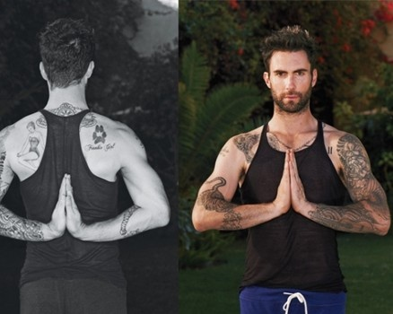 Adam Levine believes in the benefits of daily yoga: http://www.examiner.com/article/curvy-christina-aguilera-and-lean-adam-levine-score-people-s-choice-nominations