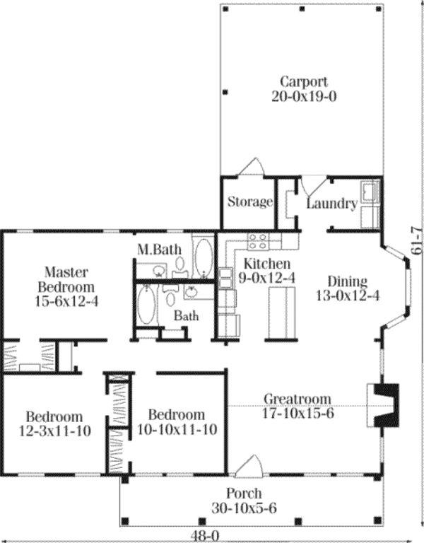 Farmhouse Style House Plan   3 Beds 2 Baths 1418 Sq/Ft Plan #406. Home  Design PlansHome PlansCountry ... Part 87