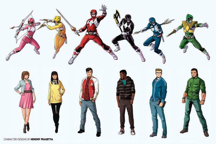 Power Rangers - Revelados novos designs dos personagens nos quadrinhos! - Legião dos Heróis