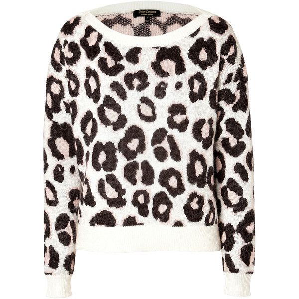 JUICY COUTURE Mohair-Blend Leopard Pullover found on Polyvore