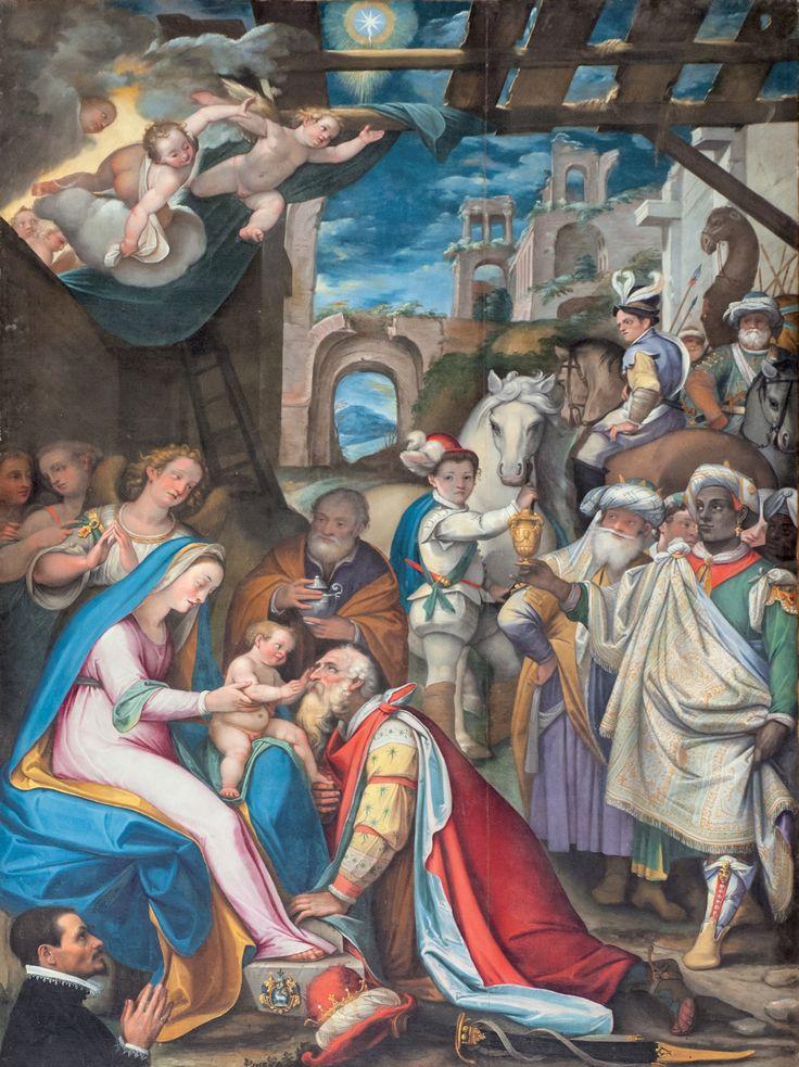Cerreto di Spoleto, Chiesa di Santa Maria Annunziata.  La tela della visita dei Magi
