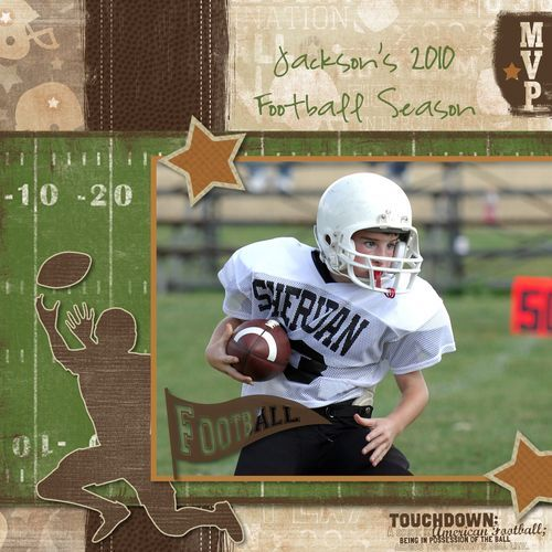 12x12 Football Cover Digital Scrapbooking Project from Creative Memories