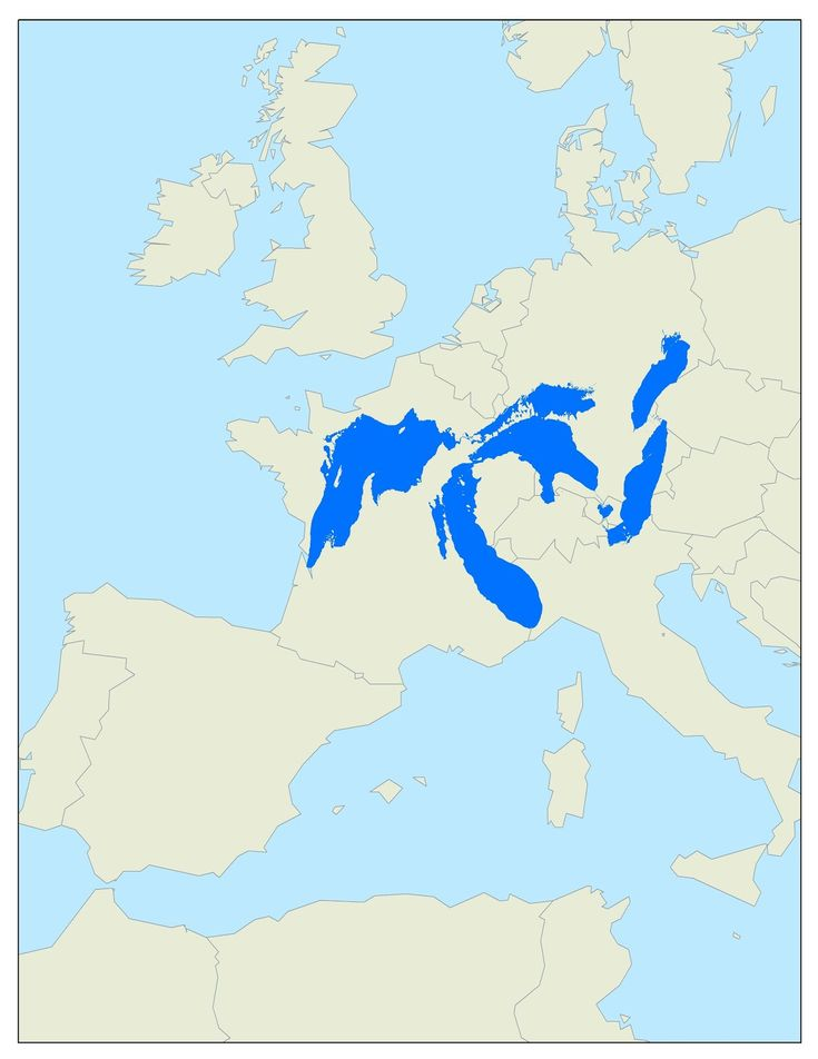 This is how much space the Great Lakes would take up if they were in Europe. #map