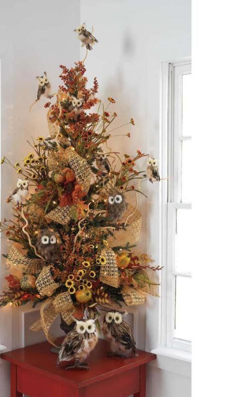 The fall idea tree...couple of these for outside flanking the door(2013)