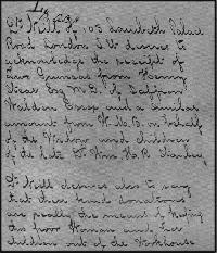 Dr. Thomas Neill Cream handwriting