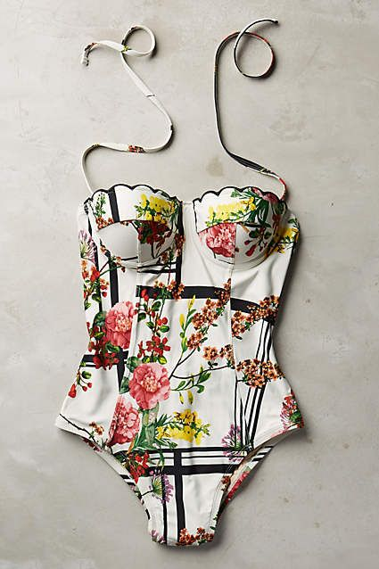Monique Scalloped Swimsuit - anthropologie.eu
