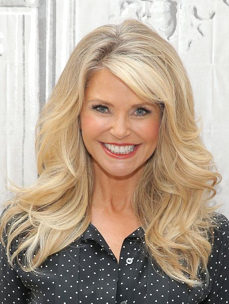 Model Christie Brinkley attends AOL BUILD Presents Christie Brinkley at AOL Studios In New York on November 18 2015 in New York City